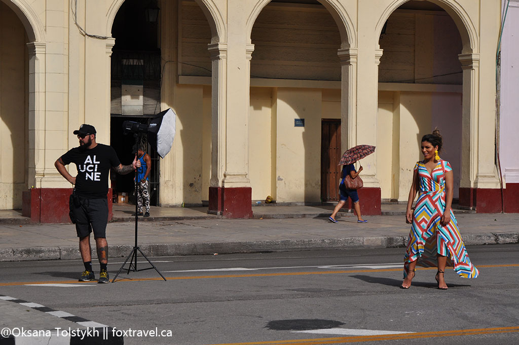 Foto session in center of Havana
