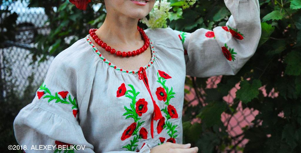 Вышиванка в украинском этно-стиле